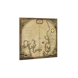 art.work Leinwandbild, Nordpol-Karte auf Leinwand 60x60 Gerahmt