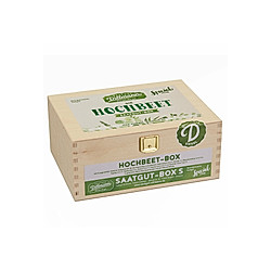 Saatgut-Holzbox Hochbeet  8 Saatgut-Sorten