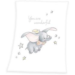 Babydecke Dumbo, Walt Disney, mit süßem Motiv