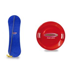 Jamara Snow Play 2fach sortiert Set 3 Rutschteller+Snowboard W10S