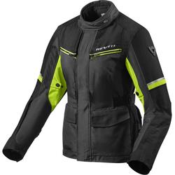 Revit Outback 3 Dames motorfiets textiel jas, zwart-geel, 38 Voordonne