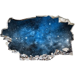 Wall-Art Wandtattoo Universum Sticker 3D Weltraum (1 Stück) 60 cm x 35 cm x 0,1 cm