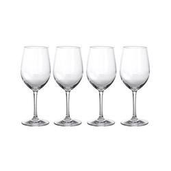 GIMEX Weißweinglas 4 x Weißweinglas aus bruchfestem Polycarbonat - 380ml - Kunststoffgläser, Kunststoff