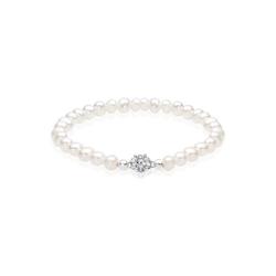 Elli Perlenarmband Süßwasserperlen Swarovski Kristalle 925 Silber