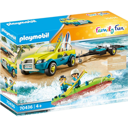Playmobil® Spielfigur PLAYMOBIL® 70436 Strandauto mit Kanuanhänger