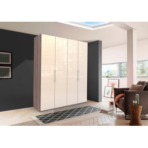 WIEMANN Falttürenschrank Loft Glasfront natur 200 cm x 236 cm x 58 cm