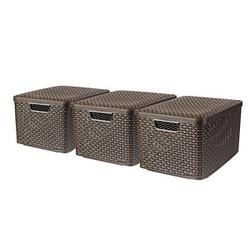 curver STYLE L Aufbewahrungsboxen braun 44,5 x 33,0 x 24,8 cm