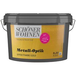 SCHÖNER WOHNEN-Kollektion Wandfarbe Metall-Optik Effektfarbe gold, 2,5 l