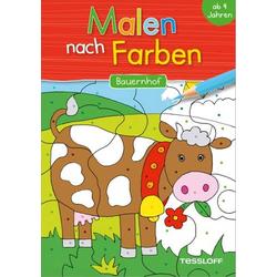Malen nach Farben.Bauernhof