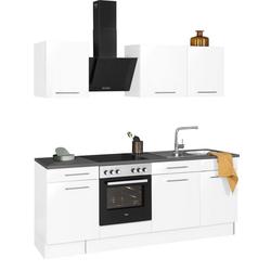 wiho Küchen Küchenzeile Ela, ohne E-Geräte, Breite 220 cm weiß