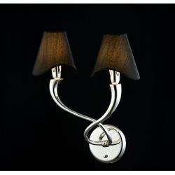 Casa Padrino Jugendstil Wandleuchte Nickel 37 x H 48 cm Jugendstil - Wandlampe Wand Beleuchtung