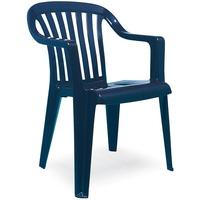 BEST Freizeitmöbel Memphis Stapelsessel 57 x 57 x 81 cm blau