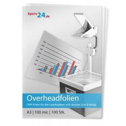 Overhead-Folien für Laserkopierer und -drucker s/w und farbig A3