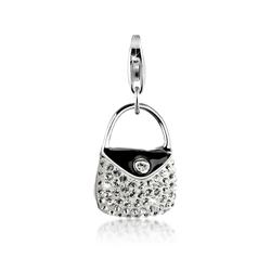 Nenalina Charm-Einhänger Handtasche Emaille Kristalle 925 Silber