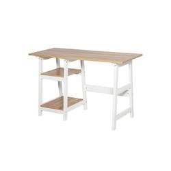 HOMCOM Schreibtisch 2-in-1 Schreibtisch mit Regal