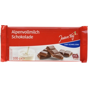 Jeden Tag Schokolade, Alpenvollmilch, 100 g