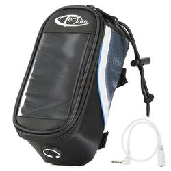 tectake Fahrradtasche Fahrradtasche mit Rahmen-Befestigung für schwarz 18 x 8,5 x 8,5 cm