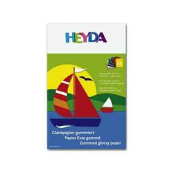 Glanzpapier-Bastelmappe 18,5x29,5cm 80g/qm 12 Blatt farbig sortiert