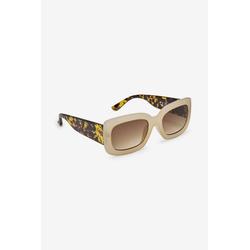 Next Sonnenbrille Eckige Sonnenbrille mit Bügeln in Schildpattoptik rosa