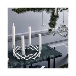 Rosendahl Kerzenhalter Kerzenhalter Adventskranz, versilbert