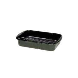 Riess Grillpfanne Grillpfanne eckig mit Waffelboden Classic, Premium-Email (1-tlg), Grillpfanne