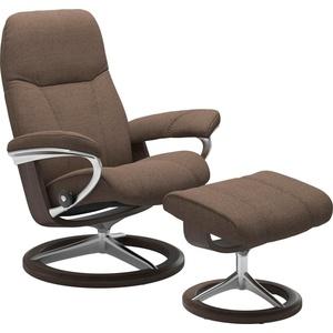 Stressless® Relaxsessel Consul (Set, Relaxsessel mit Hocker), mit Hocker, mit Signature Base, Größe M, Gestell Wenge braun