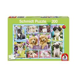 Schmidt Spiele Puzzle Puzzle Welpen, 200 Teile, Puzzleteile