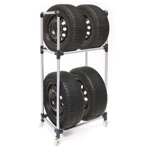 Reifenständer / Felgenbaum fahrbar für 4 Reifen