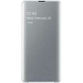 Samsung Clear View Cover EF-ZG975 für Galaxy S10+ weiß