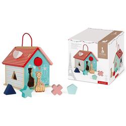 Janod Steckspielzeug Sophie la Girafe Steck-und Sortierspiel Haus bunt Kinder Steck- Stapelspielzeug Baby Kleinkind