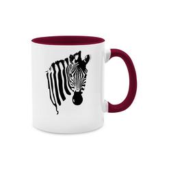 Shirtracer Tasse Zebra - Tasse zweifarbig