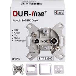 DUR-line DUR-line Antennendose 3-loch SAT, Kabelfernsehen SAT-Kabel