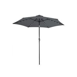 Kingsleeve Sonnenschirm, LED-Beleuchtung grau