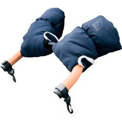 Heitmann Felle Kinderwagen-Handwärmer Eisbärchen, Handmuff für den Kinderwagen, praktische Druckknöpfe zur Befestigung blau
