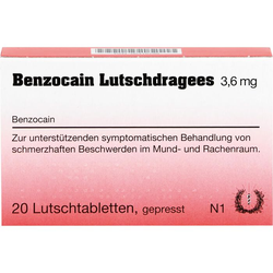 BENZOCAIN Lutschdragees 20 St.