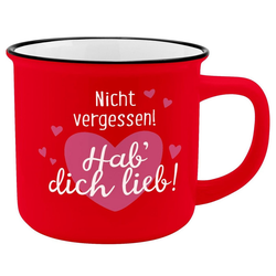 Sheepworld Tasse Auswahl Sheepworld Gruss & Co - Lieblings- Kaffe- Becher Tasse in Emaille Optik Art: Hab dich lieb
