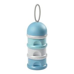 BEABA Milchpulver-Dosierbox 3 stapelbare Fächer 270ml grün/blau/grau