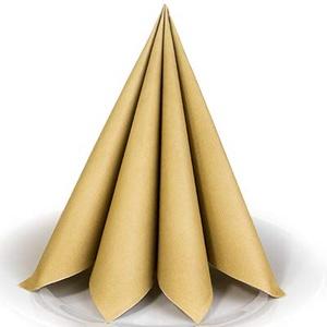 Servietten Gold Premium Airlaid STOFFÄHNLICH | 25 Stück | 40 x 40cm | Einfarbige Servietten | hochwertige Serviette für Hochzeit, Geburtstag, Party, Taufe, Kommunion | made in Germany
