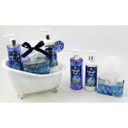 MIDNIGHT FROST Geschenkset in Badewanne - Duschgel Body Lotion Badesalz Schwamm
