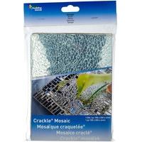 Glorex Crackle-/ Safety-Mosaik, silber, 15 x 20 cm