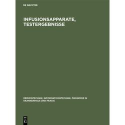 Infusionsapparate Testergebnisse als Buch von