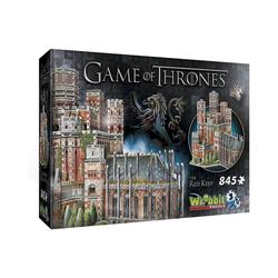 Wrebbit 3D-Puzzle Wrebbit Game of Thrones Roter Bergfried, Puzzleteile