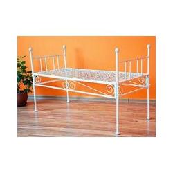 Dandibo - Bank 'Diana' White Sitzbank mit Auflage Gartenbank aus Metall 110 cm