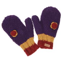 Guru-Shop Strickhandschuhe Handschuhe, gestrickte Fausthandschuhe mit.. lila