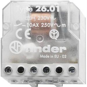 Finder Stromstoß-Schalter Unterputz 26.01.8.230.0000 1 Schließer 230 V/AC 10A 2500 VA 1St.