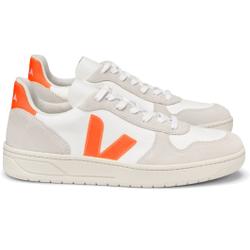 Veja - V 10 B Mesh White Natural Orange Fluo W - Sneakers - Größe: 36