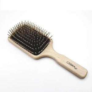 Paddle Haarbürste Holznoppen Antistatisch für lange Haare von Cebra ethical skincare