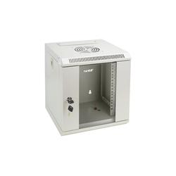 HMF Serverschrank 10 Zoll, 6-12 HE Netzwerk-Switch (6 HE, Netzwerkschrank voll Montiert, 31,2 x 30 x 35 cm, Lichtgrau) grau 31.2 cm x 35 cm x 30 cm