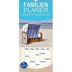 Strandkorb-Impressionen - Familienplaner hoch (Wandkalender 2021 , 21 cm x 45 cm, hoch)