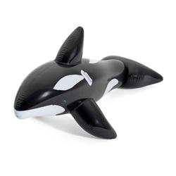 Bestway Schwimmtier Bestway Schwimmtier Jumbo Whale Reit-Tier aufblasbar XL Luftmatratze Wal 203 cm, extra groß, bis 45 Kg belastbar